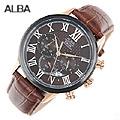 [세이코알바] ALBA 알바 크로노그래프 가죽 AT3442X1