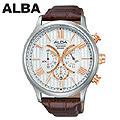 [세이코알바] ALBA 알바 브라운가죽 크로노 AT3621X1