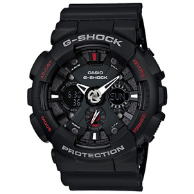 G-SHOCK 지샥시계 빅페이스 블랙×레드 GA-120-1A